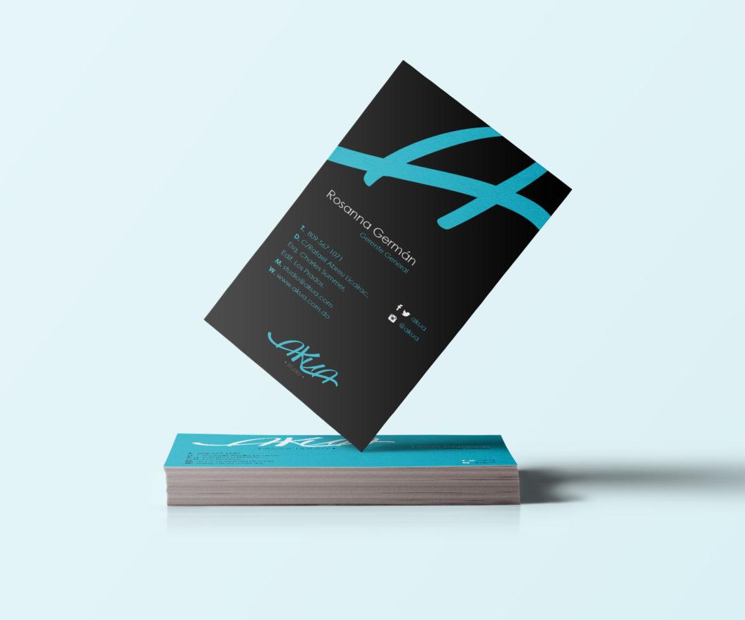 Diseño tarjeta de presentación | Cliente: Akua