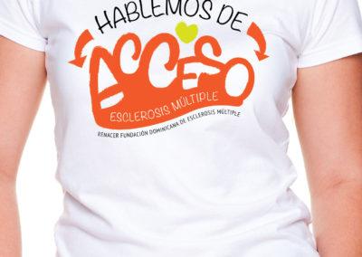 Diseño y Serigrafía arte camiseta | Cliente: Fundación Renacer