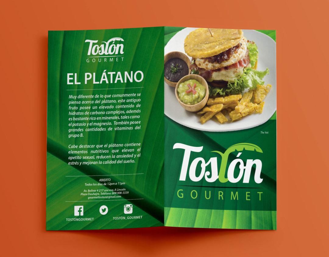 Diseño Menú | Cliente Tostón Gourmet