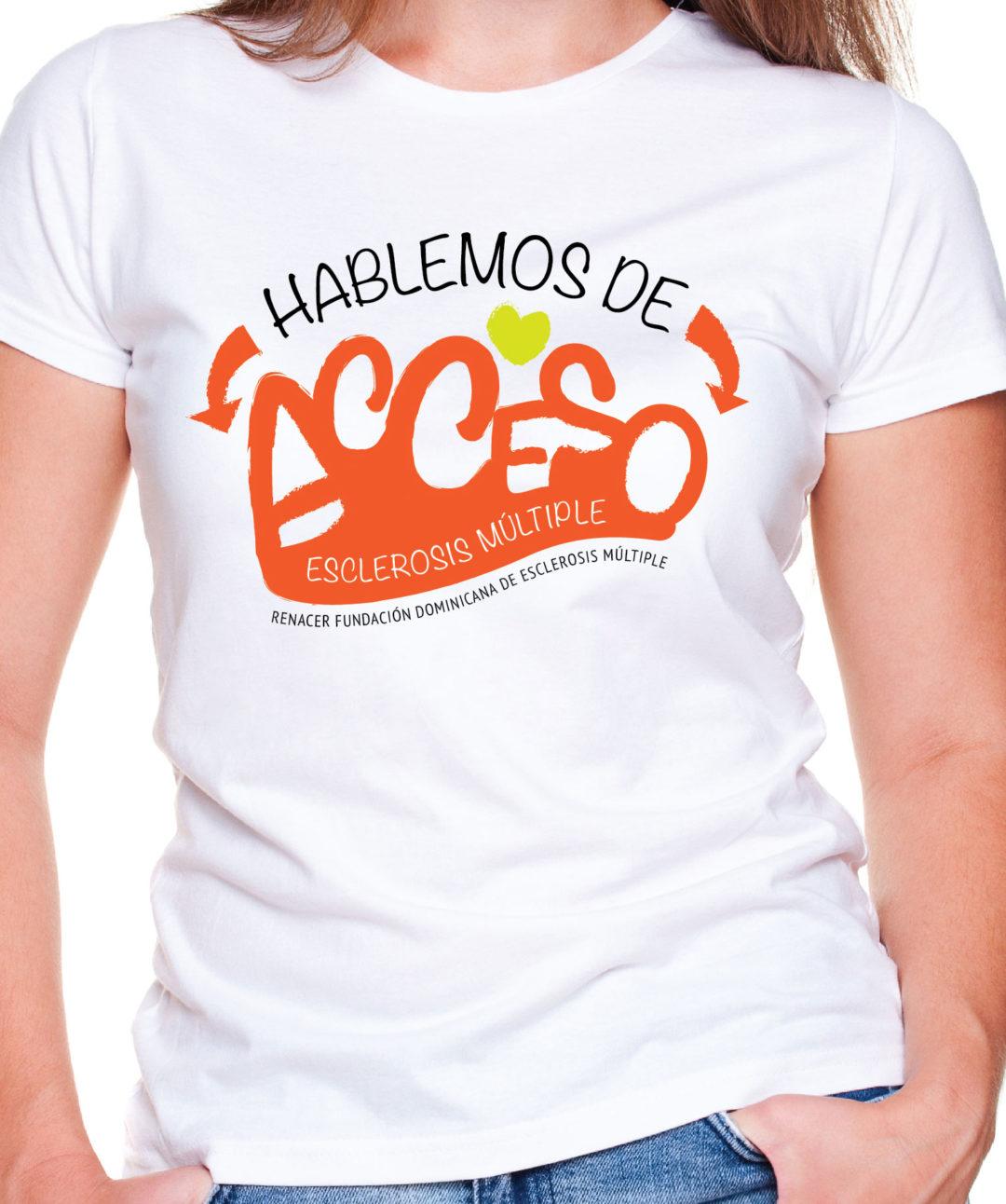 Diseño y Serigrafía arte camiseta   Cliente: Fundación Renacer