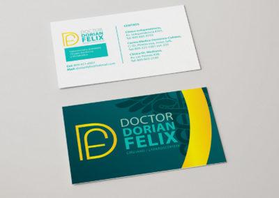 Diseño Línea Gráfica (Tarjeta) | Cliente: Dr. Dorian Felix