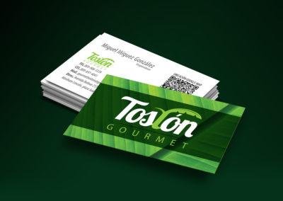 "Diseño Línea Gráfica ""Tarjeta de Presentación"" | Cliente: Tostón Gourmet"